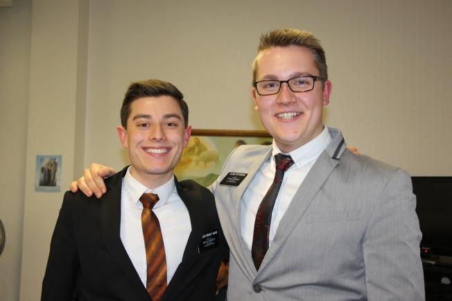 Elder Haug and Elder Peterson